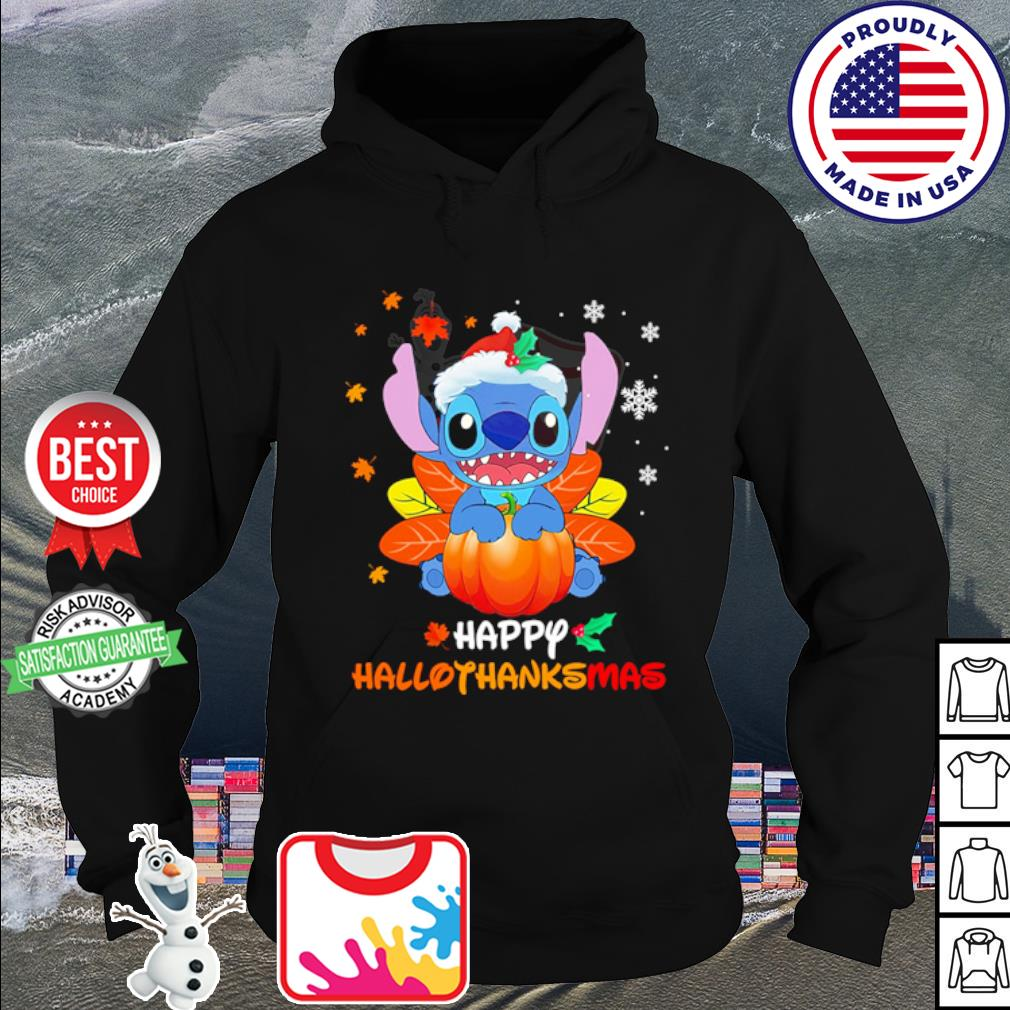Stitch Pumpkin Happy Hallothanksmas s hoodie