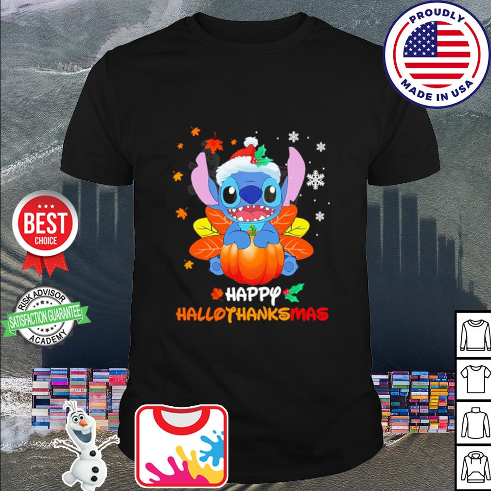 Stitch Pumpkin Happy Hallothanksmas shirt