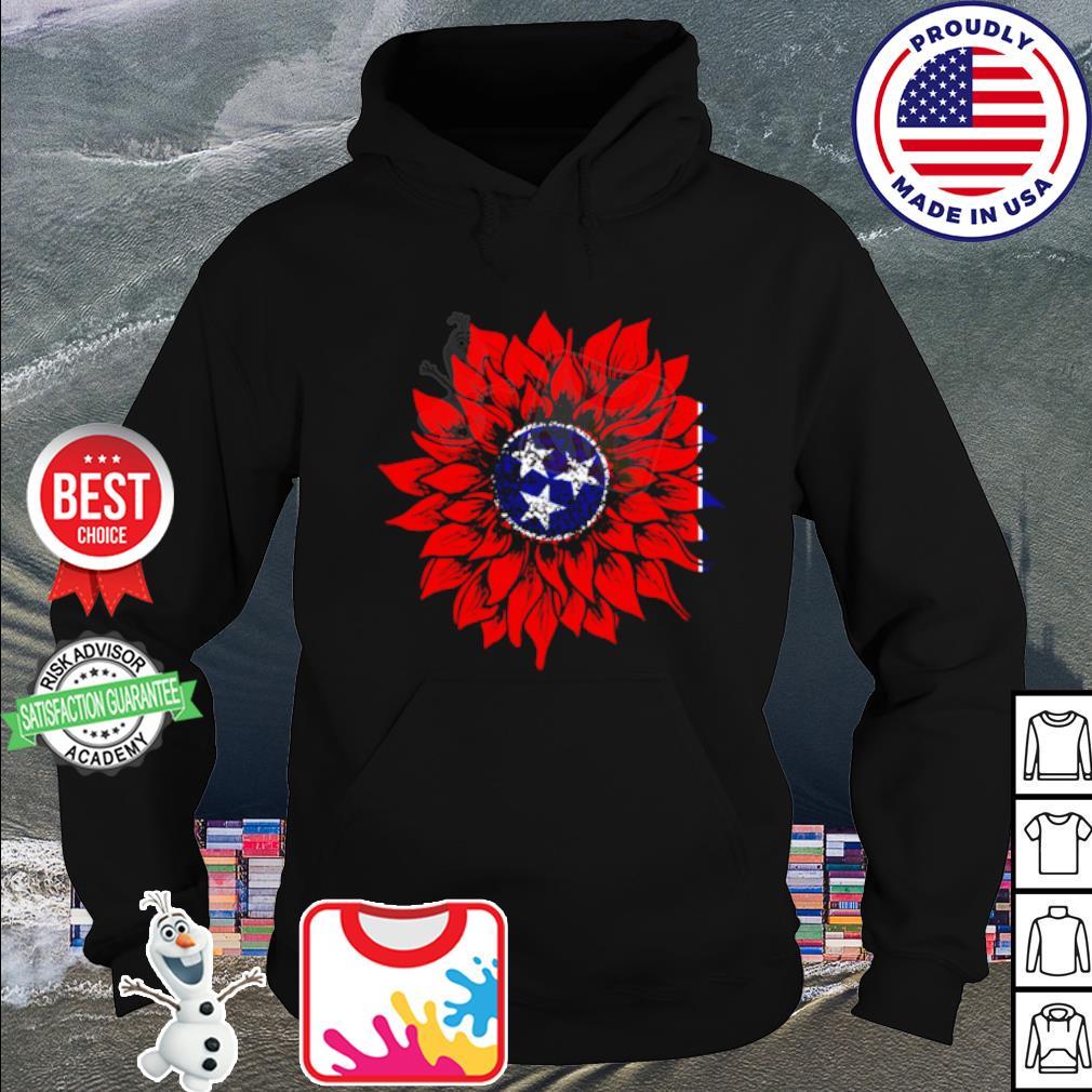 Sunflower Tennessee Flag American s hoodie