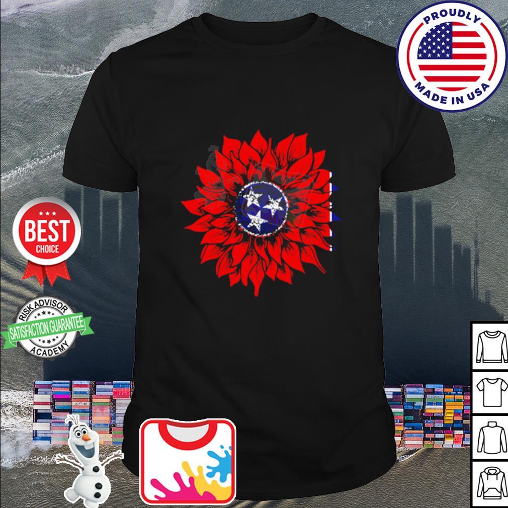 Sunflower Tennessee Flag American shirt