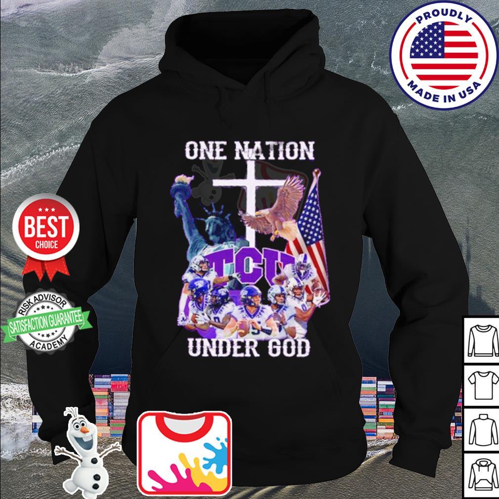 TCU Horned Frogs one nation under god American falg s hoodie