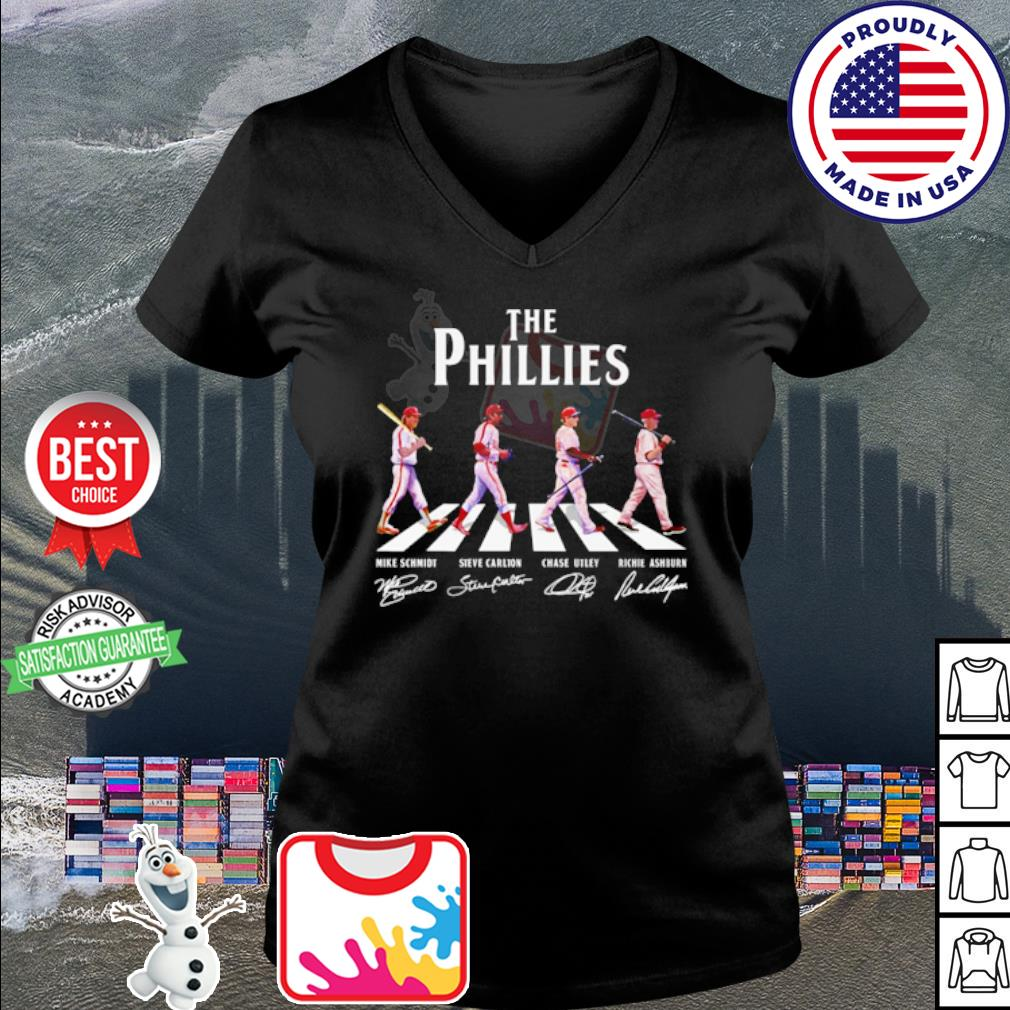 The Philadelphia Phillies Abbey Road signatures s v-neck t-shirt