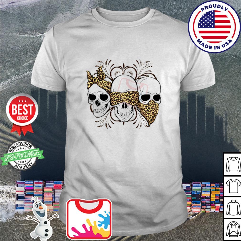 Three Skulls Leopard shirt