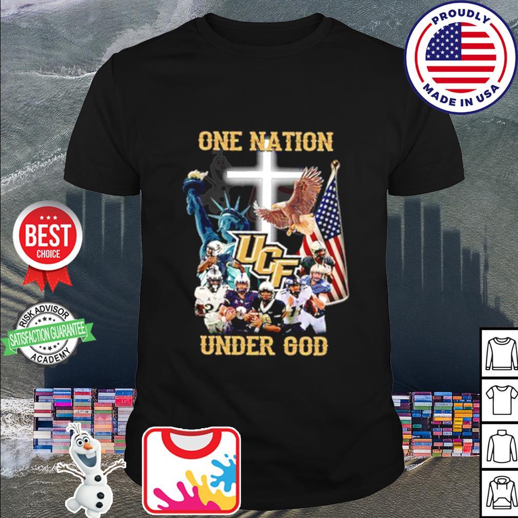UCF Knights one nation under god American falg shirt