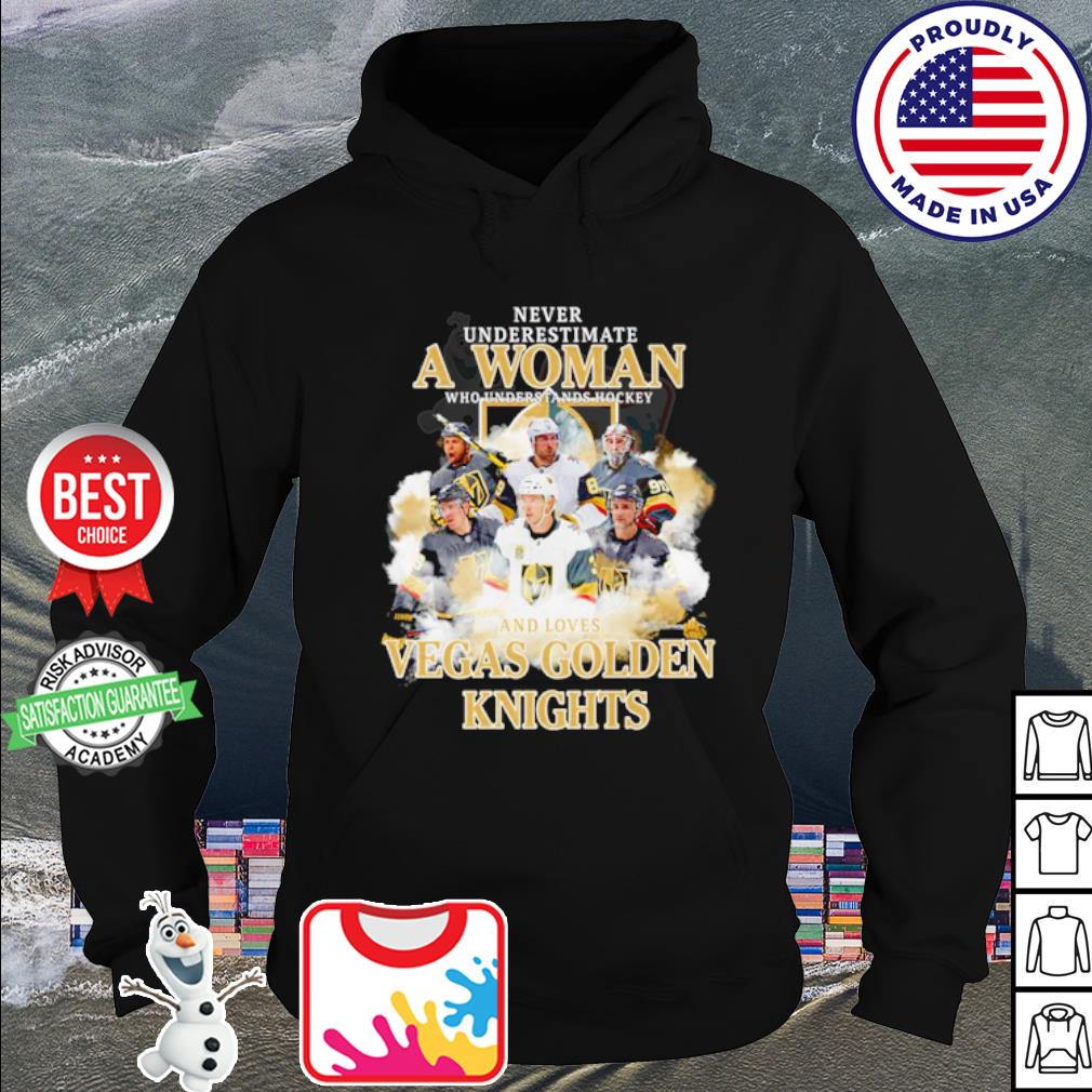 Vegas Golden Knights signatures Never underestimate a woman hockey s hoodie