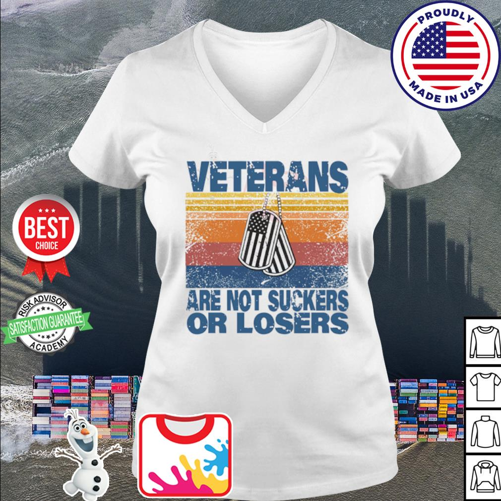 Veterans are not suckers or losers vintage s v-neck t-shirt