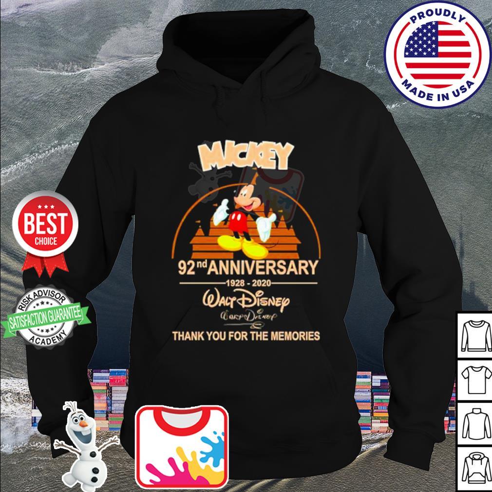 Walt Disney Mickey 92nd Anniversary 1928-2020 signature s hoodie