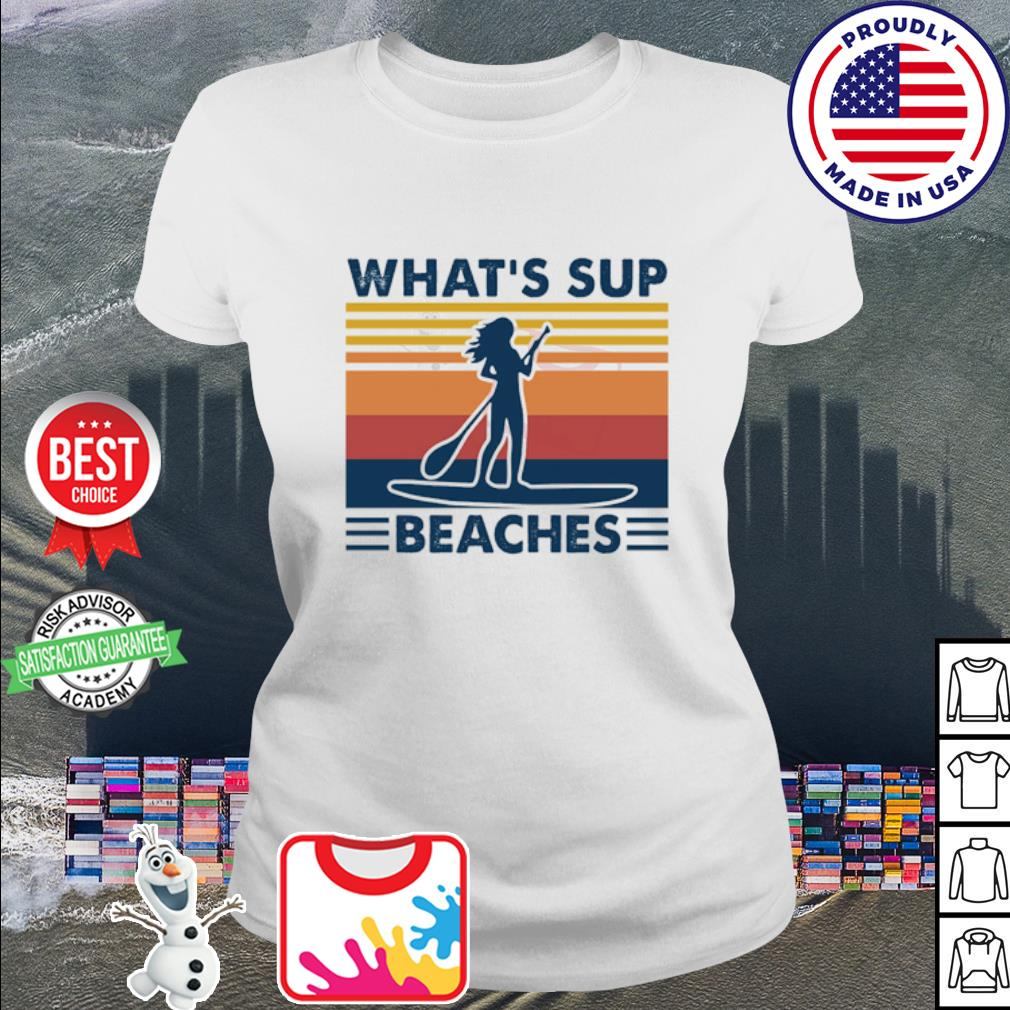 What's sup Beaches woman vintage s ladies tee