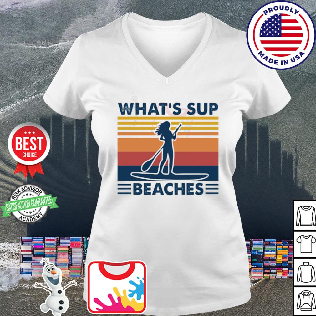 What's sup Beaches woman vintage s v-neck t-shirt