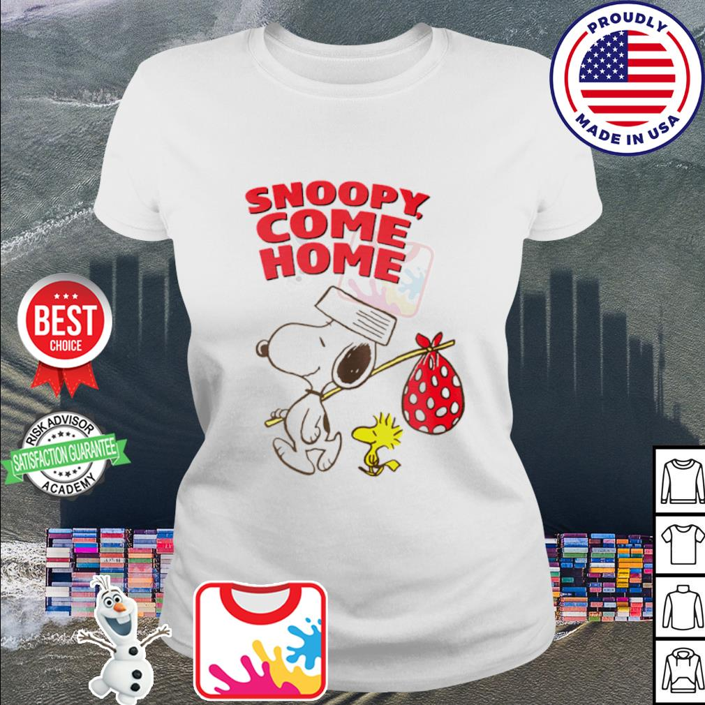 Woodstock and Snoopy come home s ladies tee
