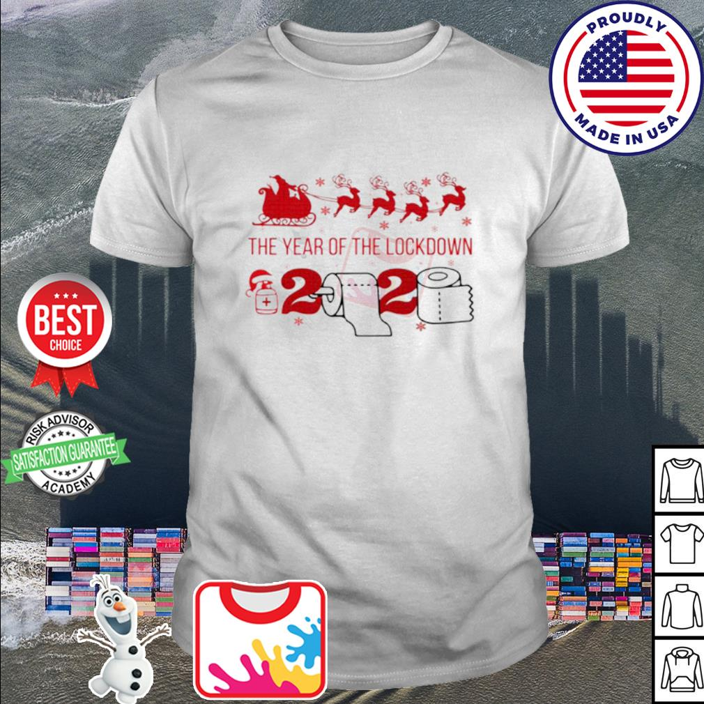 2020 toilet paper the year of the lockdown Christmas shirt
