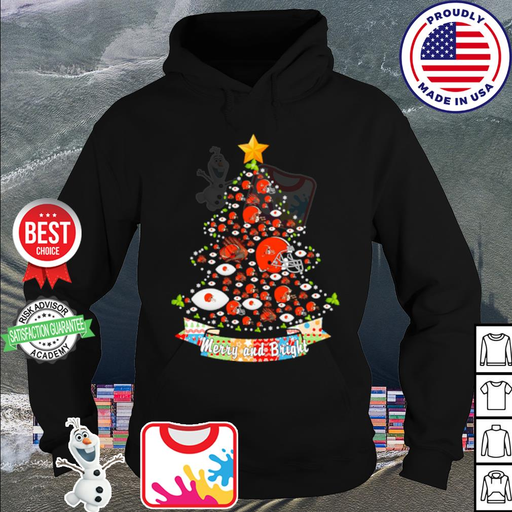 Cleveland Browns tree Merry and bright s hoodie