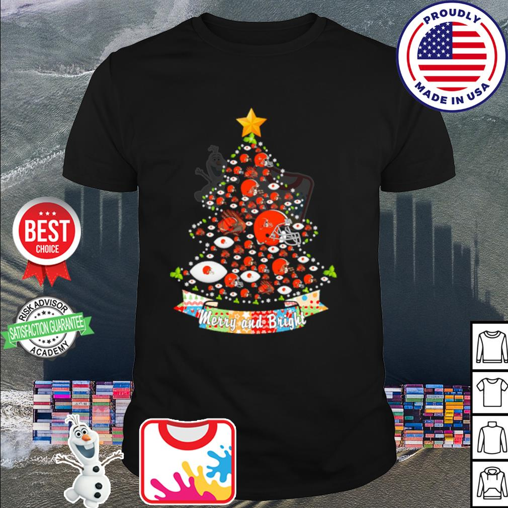 Cleveland Browns tree Merry and bright shirt