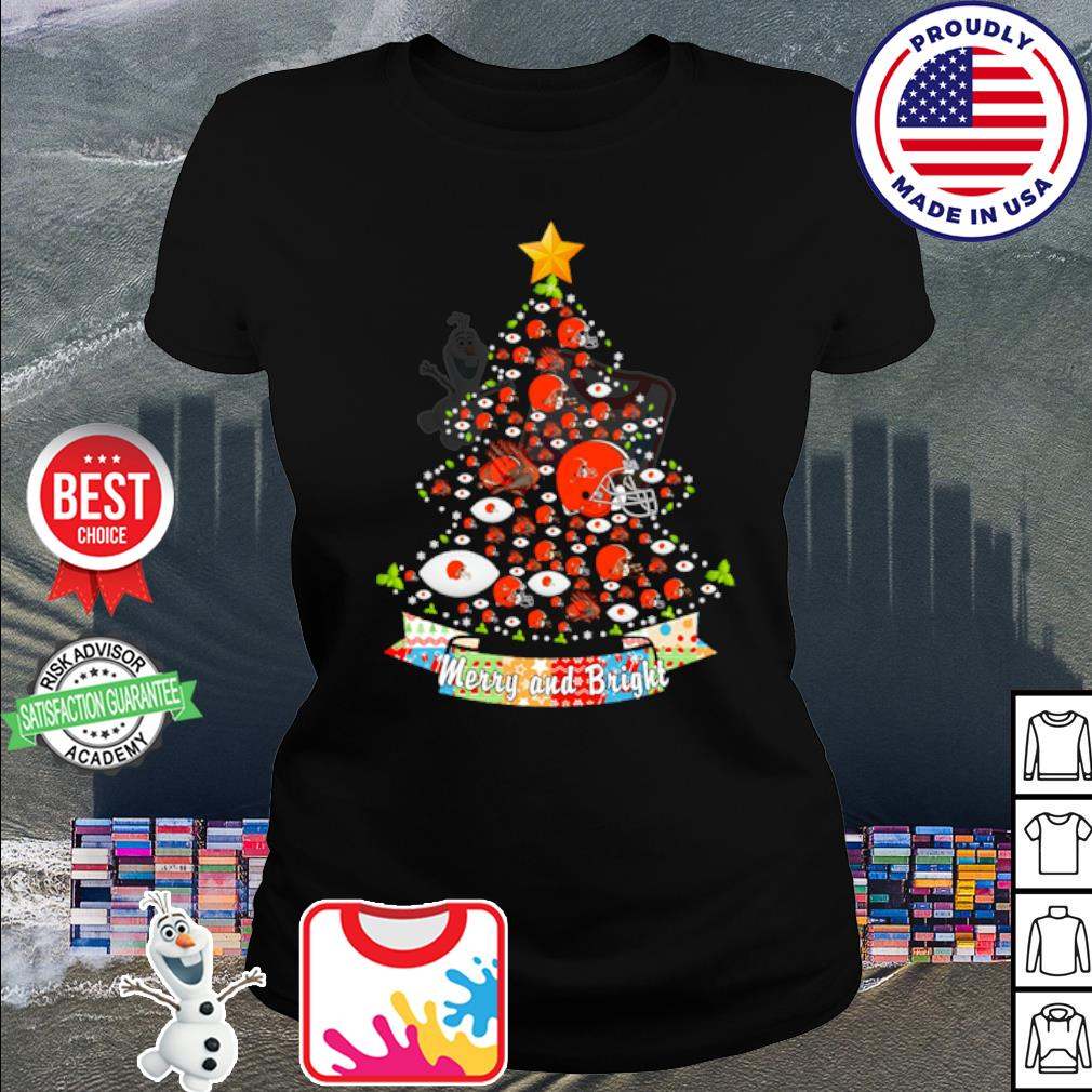 Cleveland Browns tree Merry and bright s shirt