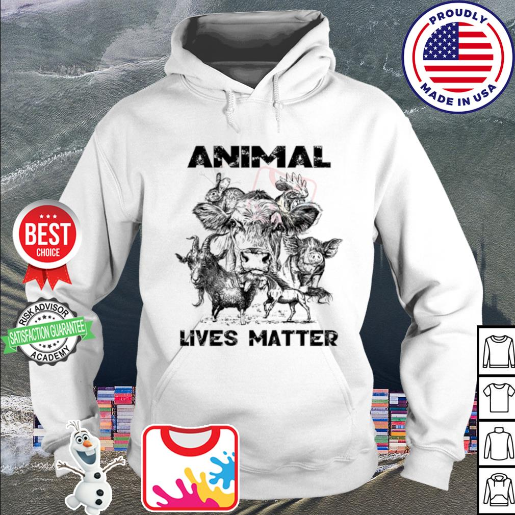 Cow Goat Horse animal lives matter s hoodie
