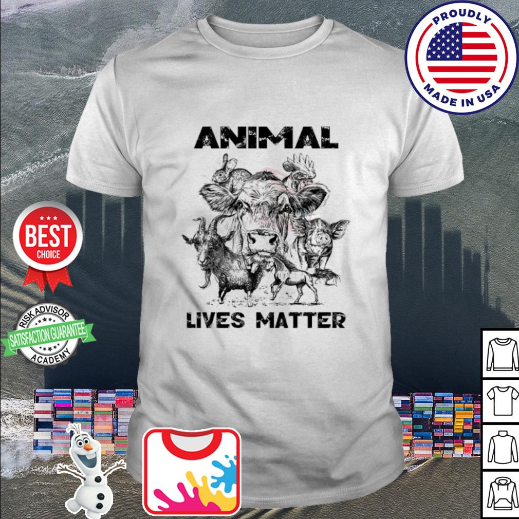 Cow Goat Horse animal lives matter shirt