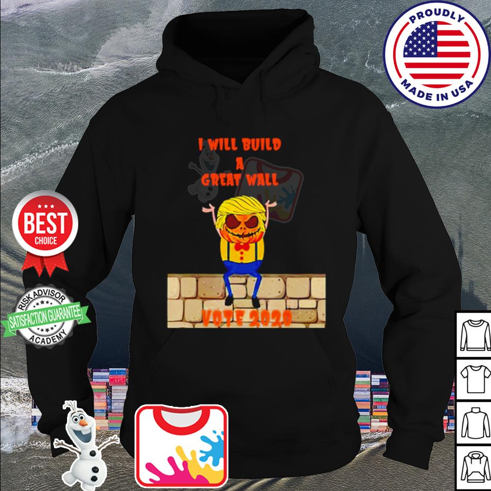 Donald Trump I will build a great wall vote 2020 s hoodie