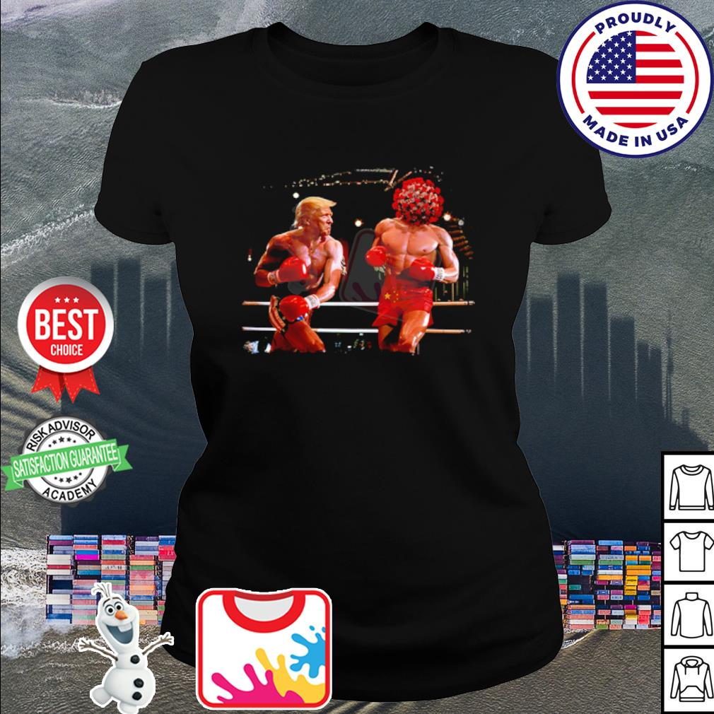 Donald Trump with Covid boxing s ladies tee