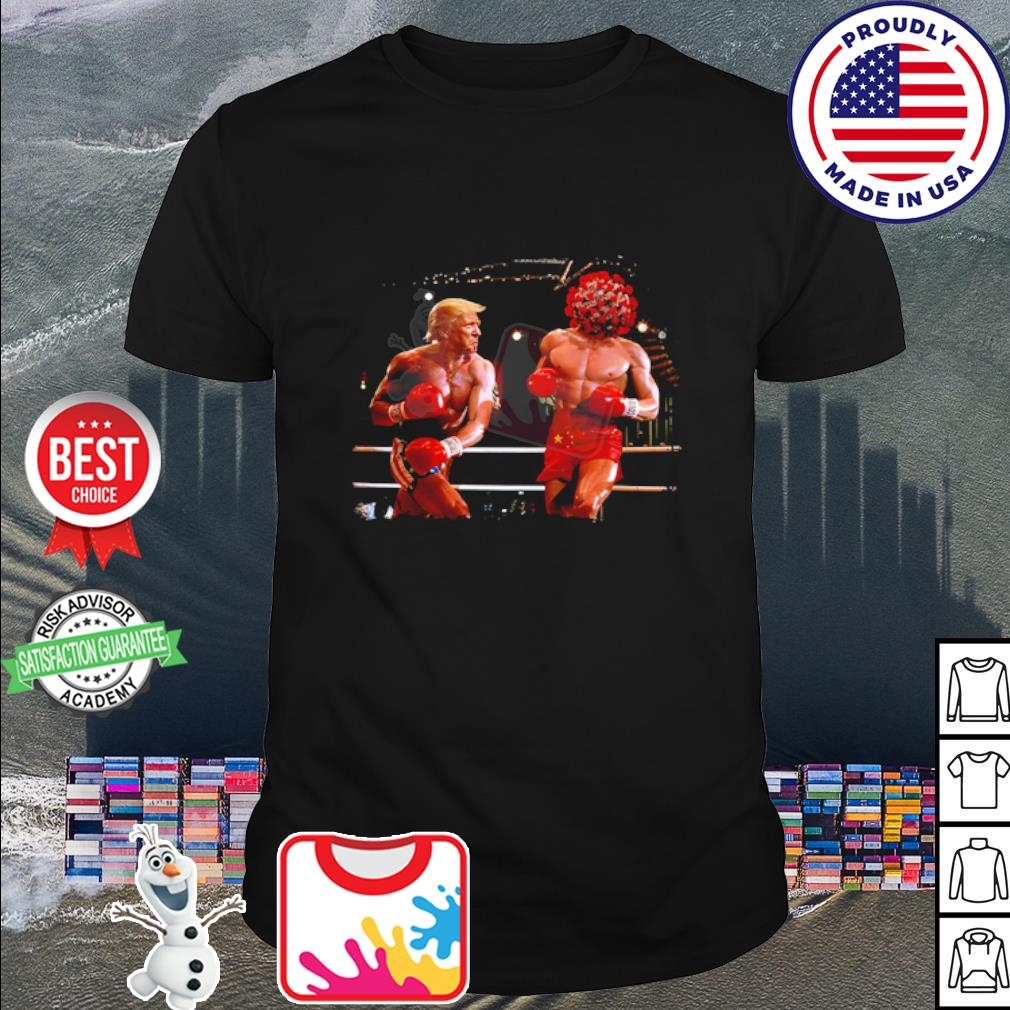 Donald Trump with Covid boxing shirt