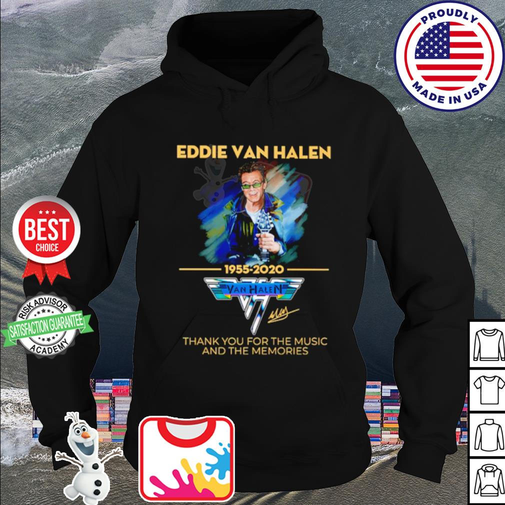 Eddie Van Halen thank you for the memories 1955-2020 signature s hoodie