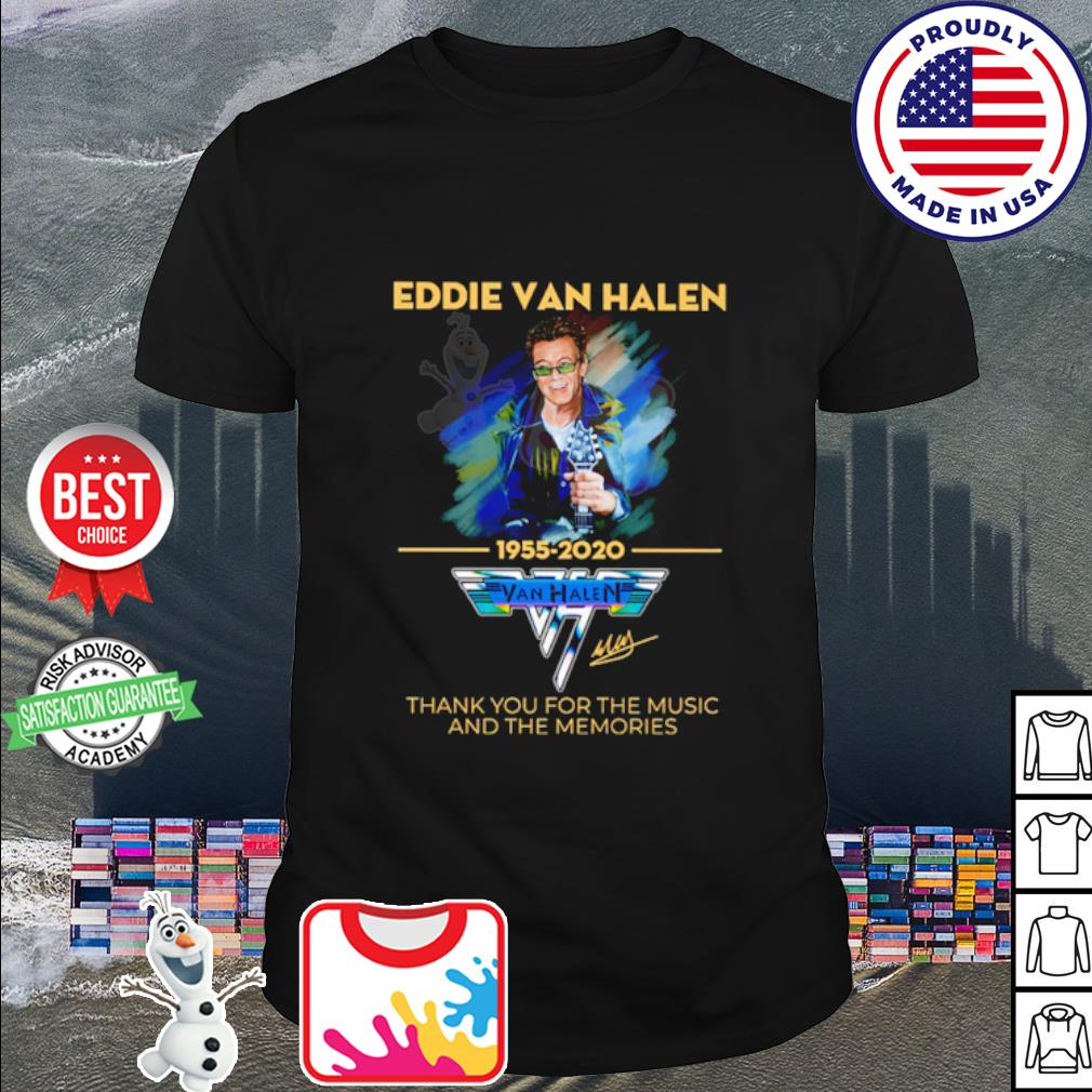 Eddie Van Halen thank you for the memories 1955-2020 signature shirt