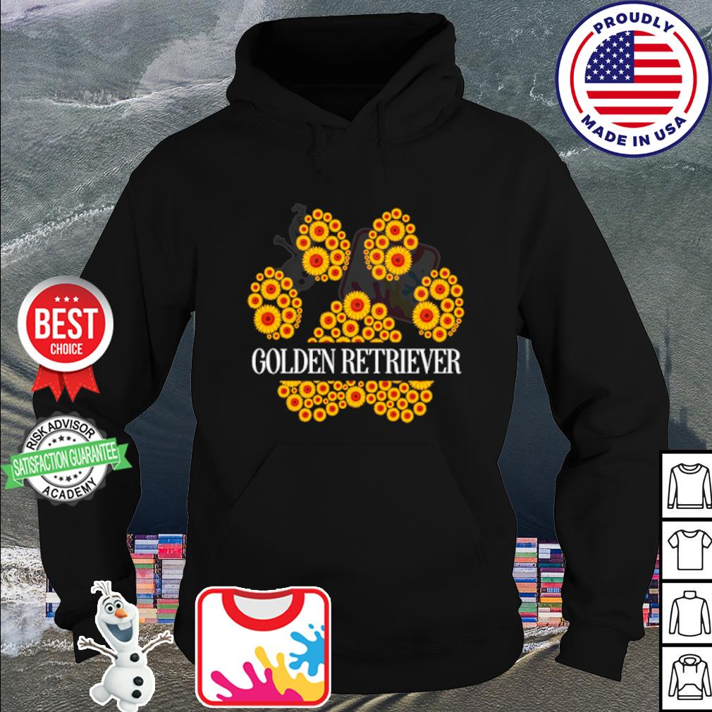 Golden Retriever flower s hoodie