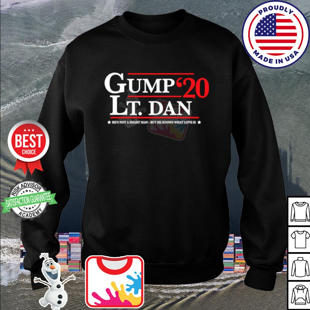 Gump Lt. Dan 2020 he's not a smart man but he knows what love is s sweater
