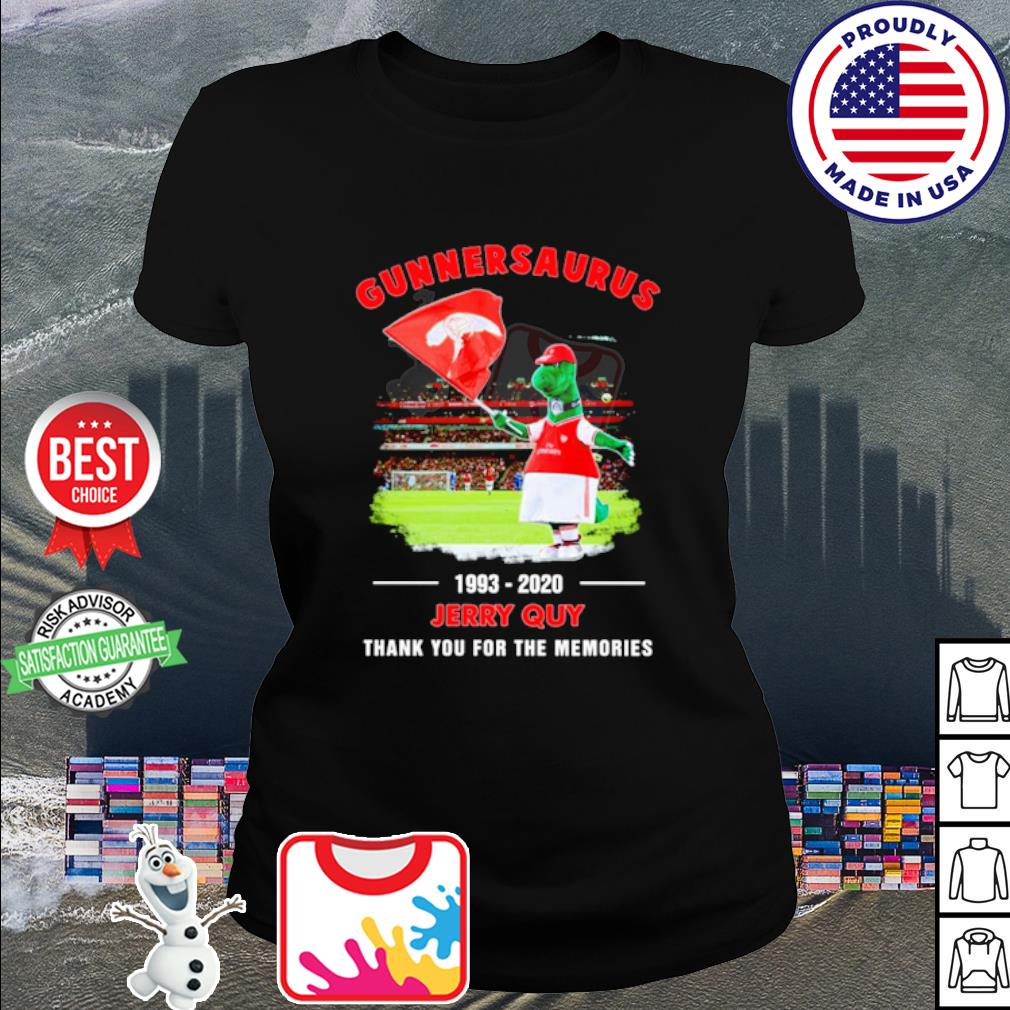 Gunnersaurus 1993 2020 Jerry Quy thank you for the memories s ladies tee