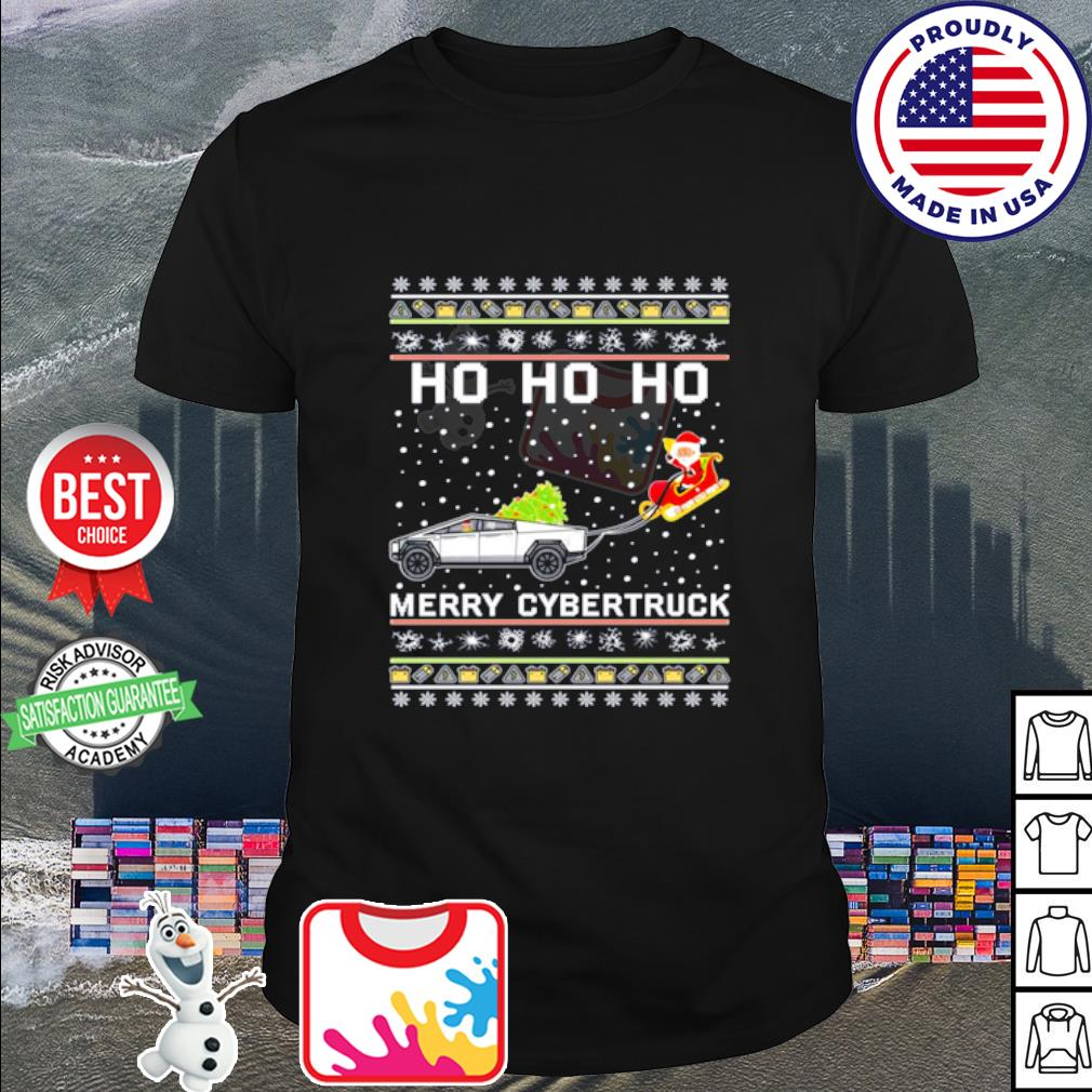 Ho Ho Ho Merry Cybertruck Ugly Christmas Santa Claus shirt