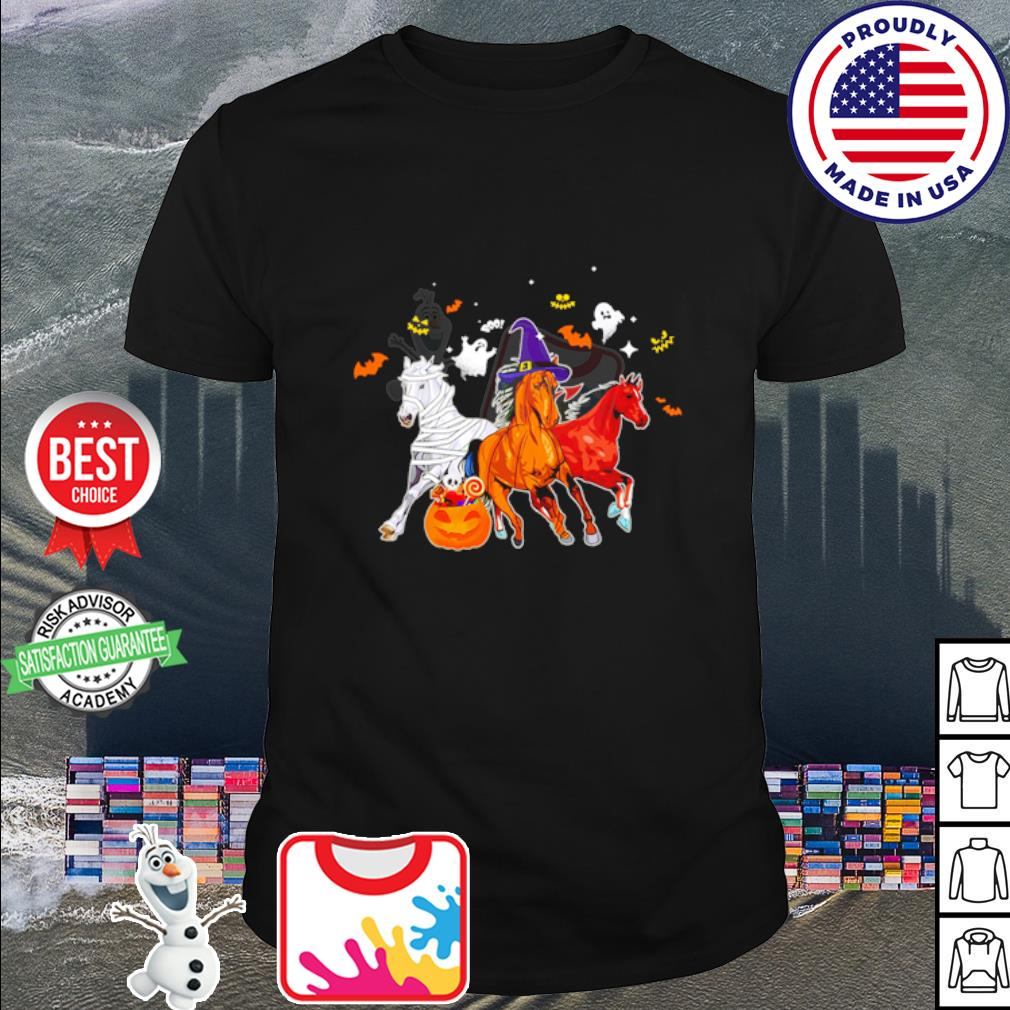 Horse In Halloween shirt