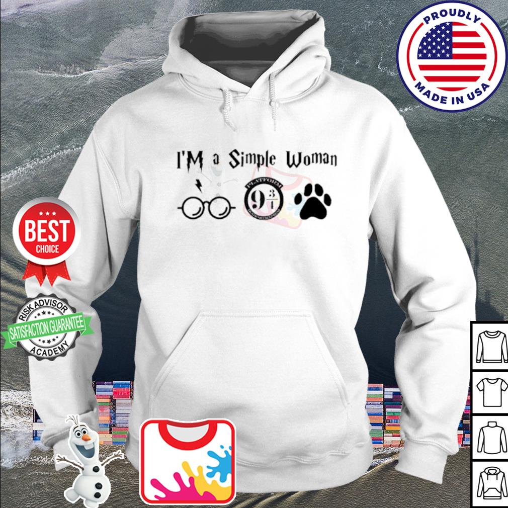 I'm a simple woman I like Harry Potter Platform Hogwarts Express and paw dog s hoodie