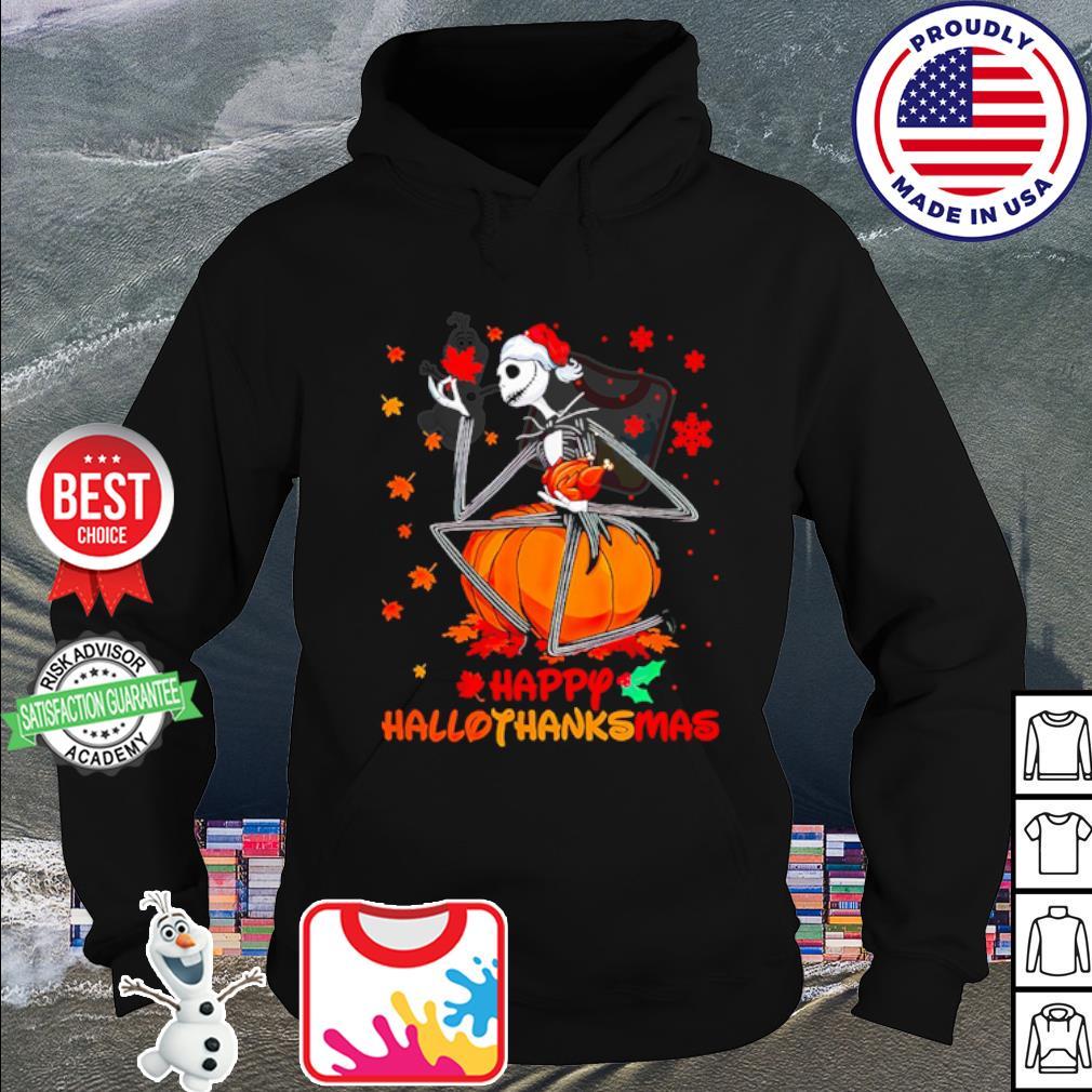 Jack Skellington happy HalloThanksMas s hoodie