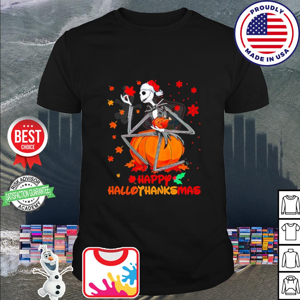 Jack Skellington happy HalloThanksMas shirt