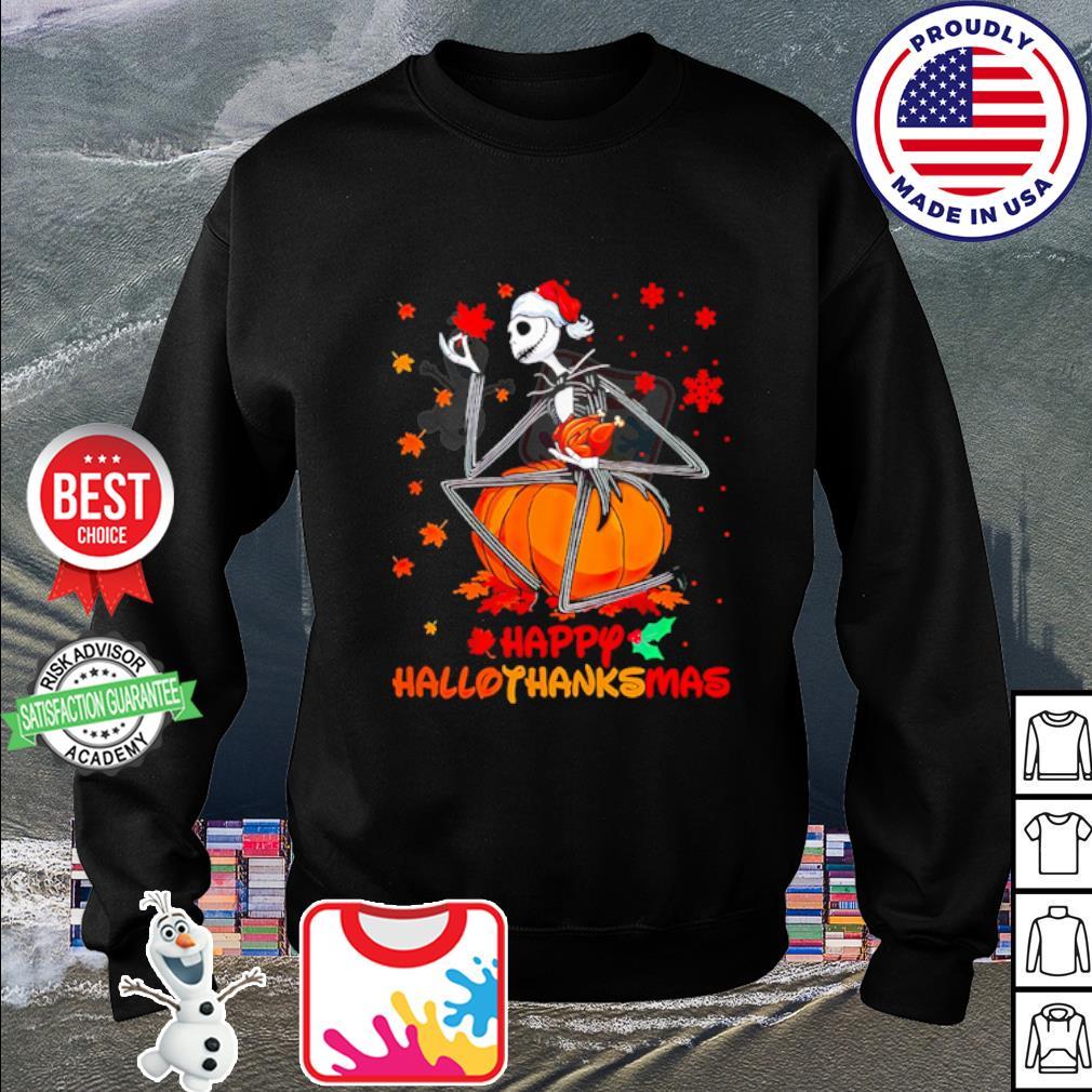 Jack Skellington happy HalloThanksMas s sweater