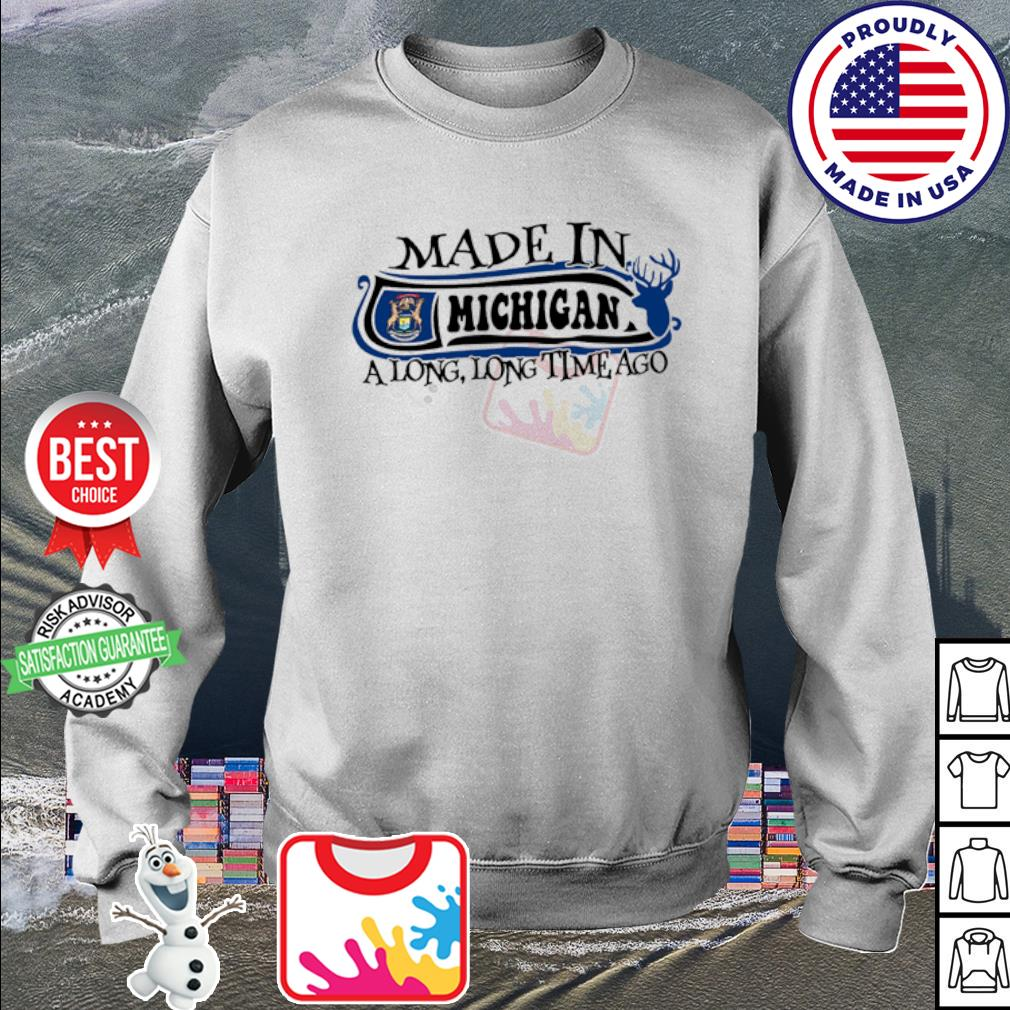Made in Michigan a long long time ago s sweater