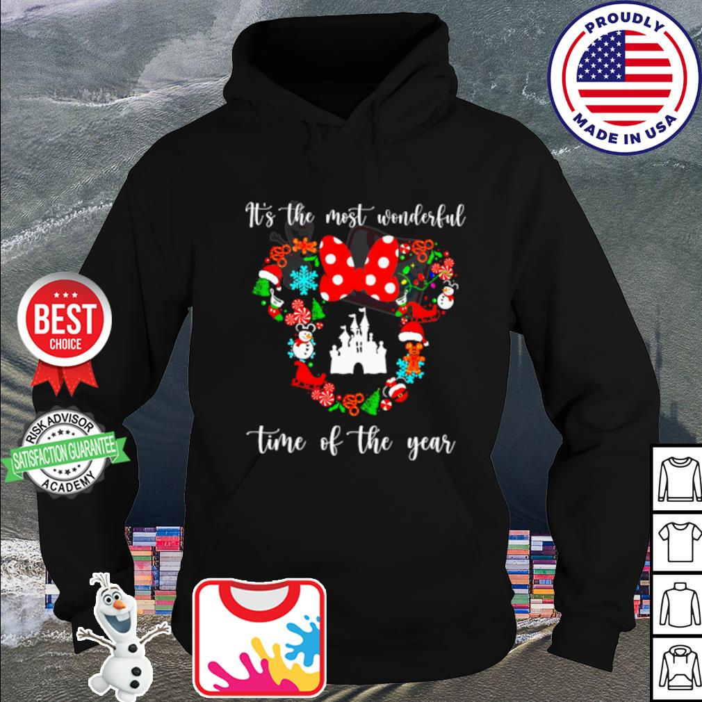 Mickey Disney it's the most wonderful time of the year Christmas s hoodie