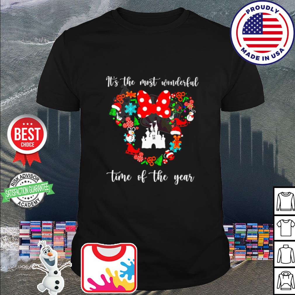 Mickey Disney it's the most wonderful time of the year Christmas shirt