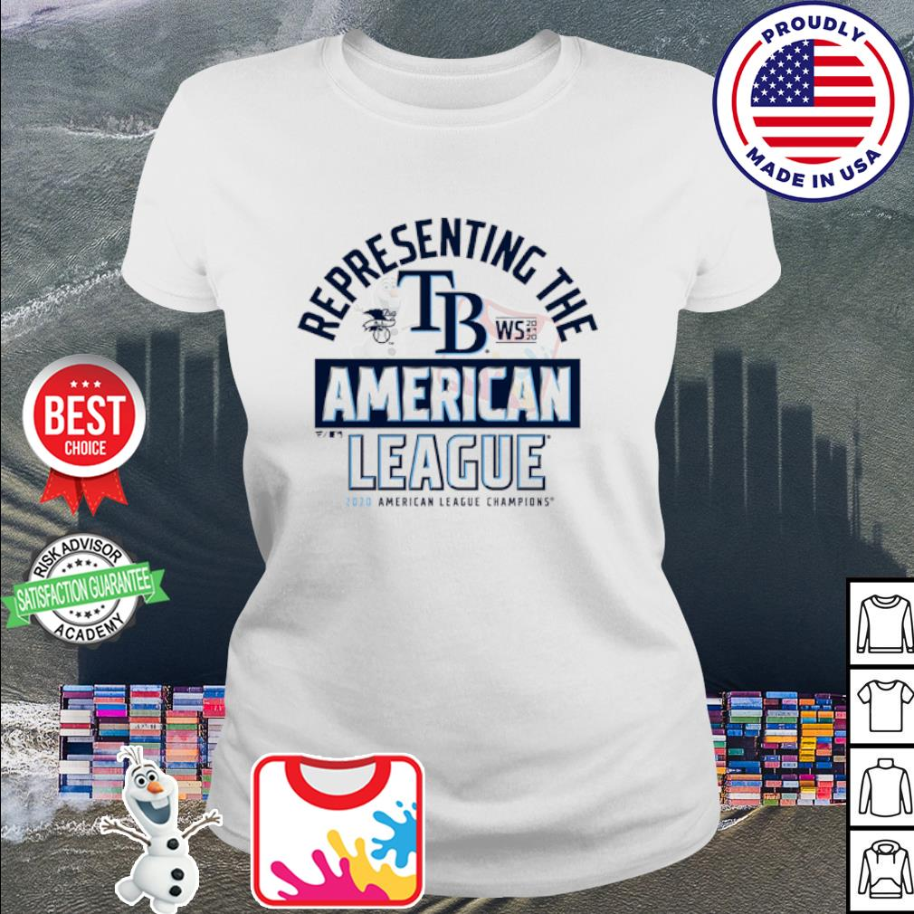 Representing the Tampa Bay Rays national League Champions 2020 s ladies-tee