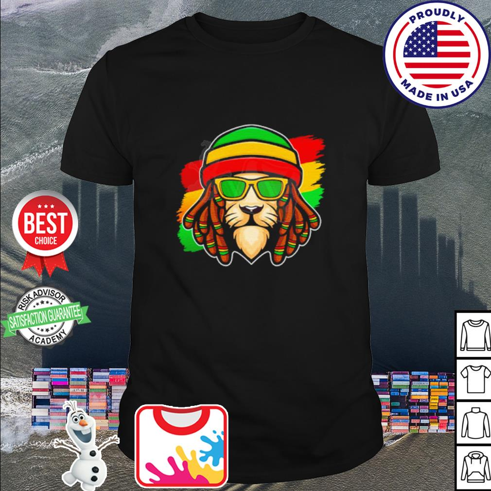 Roots Reggae Music Rasta Lion shirt