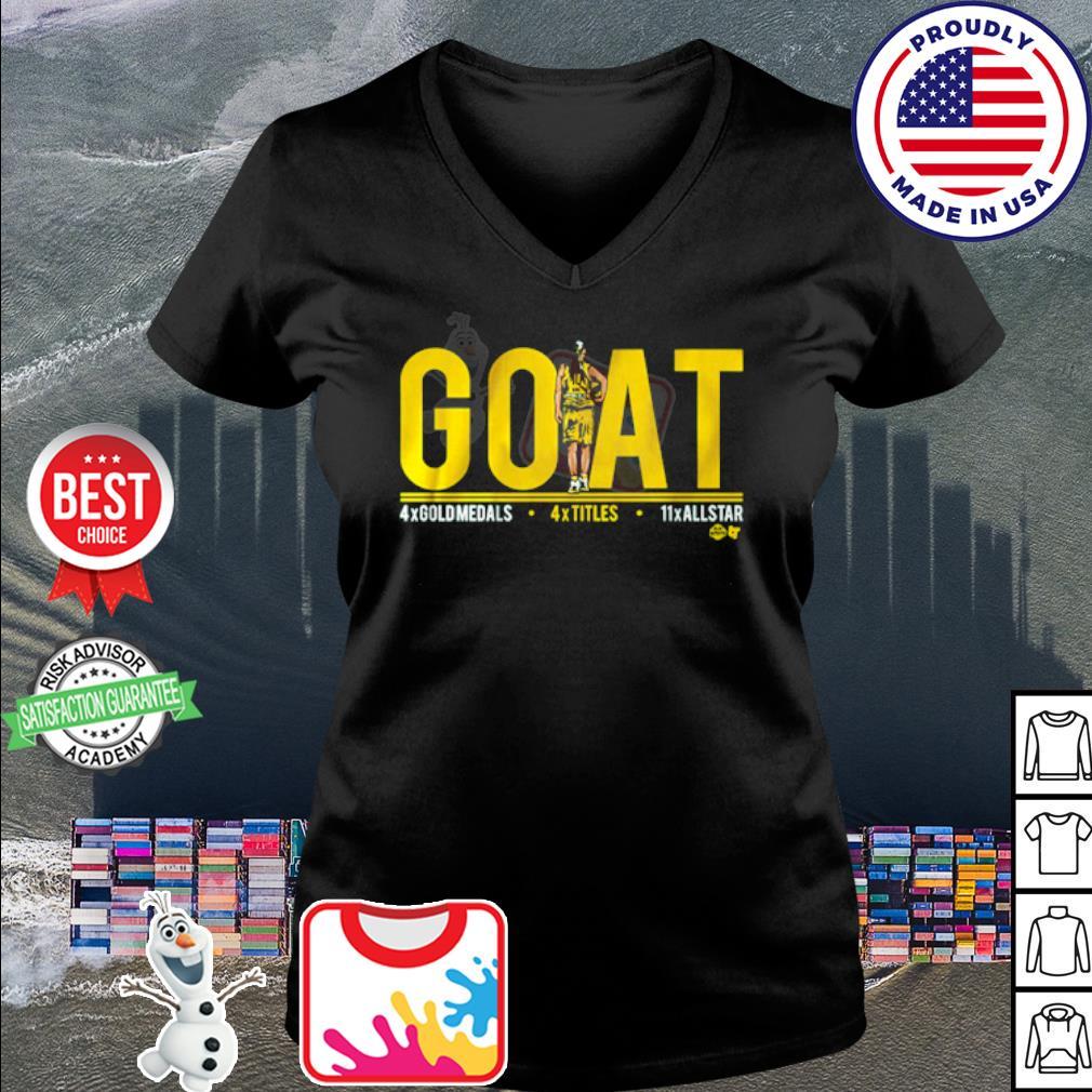 Sue Bird goat s v-neck t-shirt