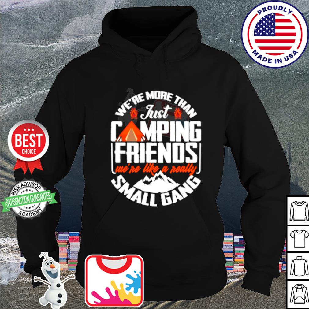 We_re more than just camping friends we_re like a really small gang s hoodie