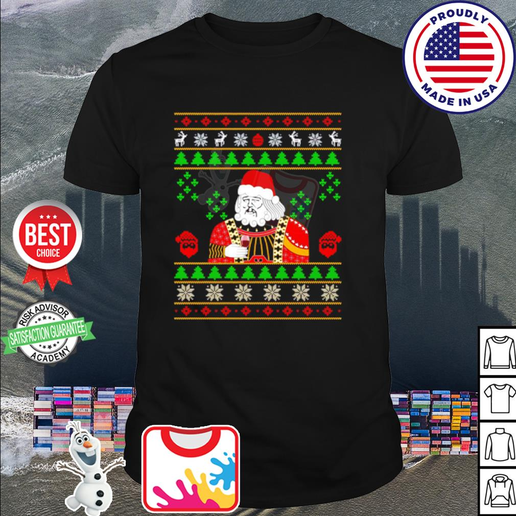 Santa Claus Leonardo Big Fat Jumper Quarantined Christmas 2020 shirt