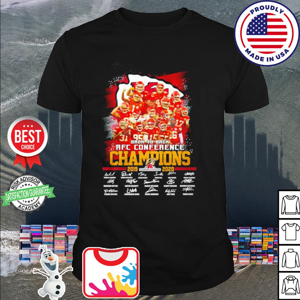 Kansas City Chiefs back to back AFC conference Champions 2019 2020 signature shirt