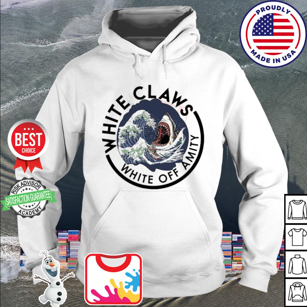 Shark white claws white off amity s hoodie