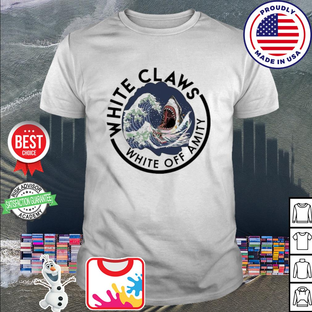 Shark white claws white off amity shirt